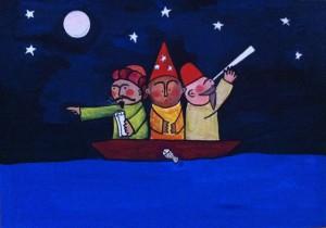 tres en la mar