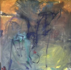 Botanical garden no. 2, 100x100cm, oil, pigment on canvas, 2011 (2)